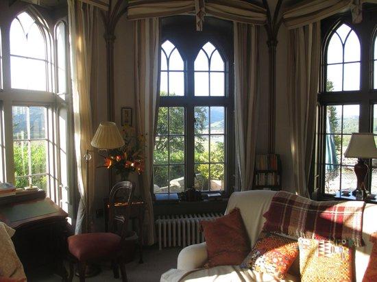 Glandyfi Castle: The library