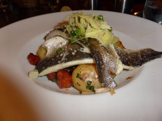 Nevis Bank Inn: Grilled sea bass fillets