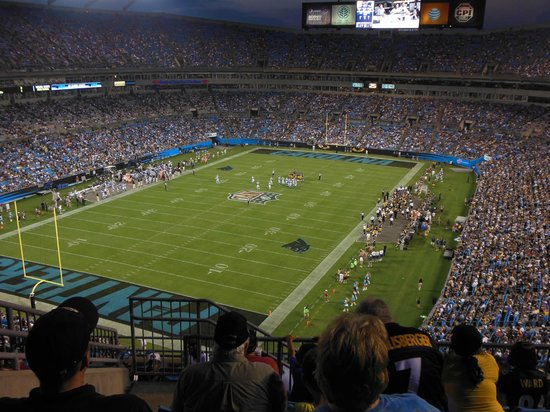The Bank of America Stadium: view from our seats