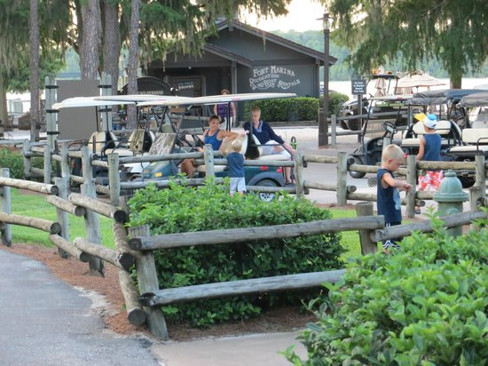 The Campsites at Disney's Fort Wilderness Resort: Golf cart parking at the Marina