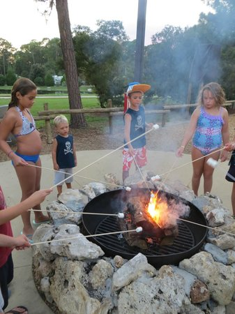 The Campsites at Disney's Fort Wilderness Resort: Roasting Marshmallows!