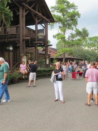 The Campsites at Disney's Fort Wilderness Resort: Pioneer Hall down at the Settlement