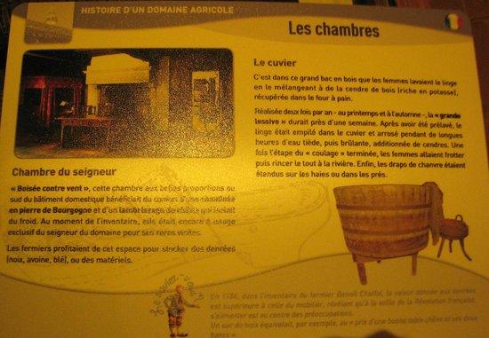 Musee de la Bresse-Domaine des Planons: les chambres de la maison