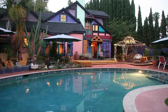 Hollywood Bed & Breakfast: Pool patio