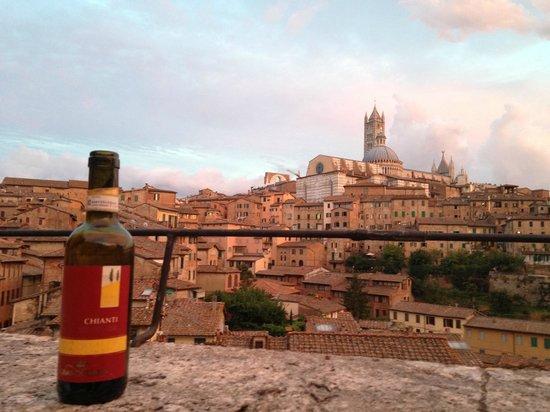 Albergo Bernini : Vue de la terrasse