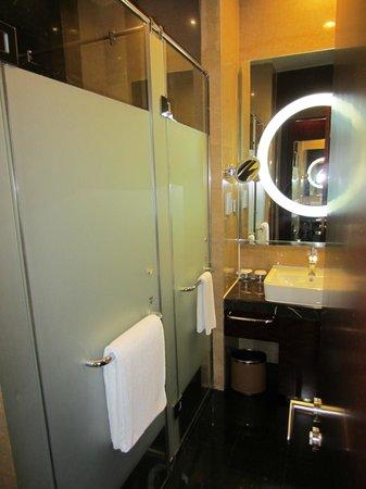Hilton Beijing Capital Airport: shower stall