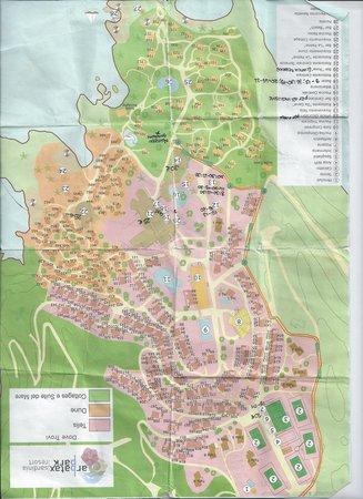 Arbatax Cartina Geografica.Cartina Del Telis Un Po Spiegazzata Foto Di Arbatax Park Resort Telis Tripadvisor