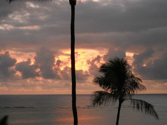 Pat's at Punalu'u : Sunrise from balcony (lanai) PH12...VRBO#134630