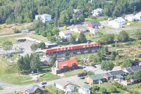Motel Loupi: vue aérienne