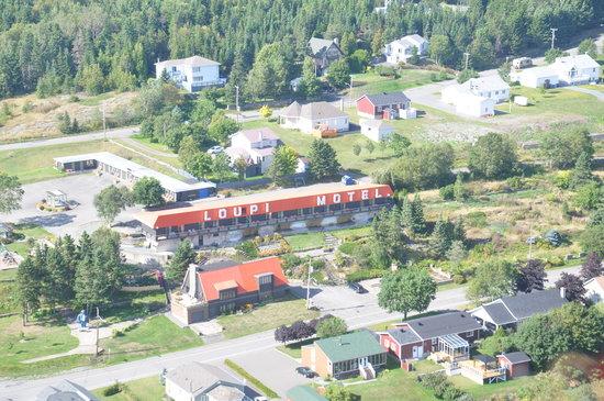 vue vol d 39 oiseau picture of motel loupi riviere du. Black Bedroom Furniture Sets. Home Design Ideas
