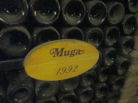 Bodegas Muga: Dated wine bottle storage