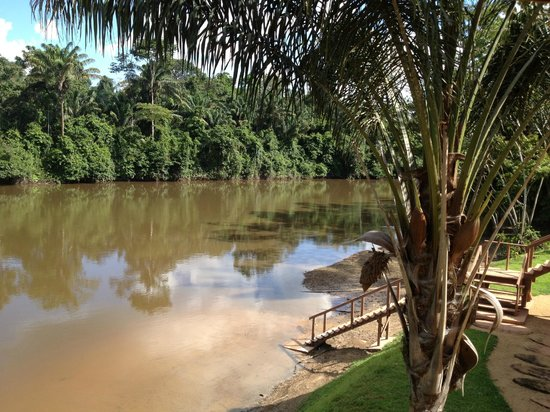 Kabalebo Nature Resort: river side in front of Cabana
