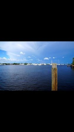 Matanzas Inn: view from the dock