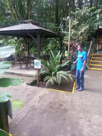 Evergreen Lodge: Wifi solo en esta zona