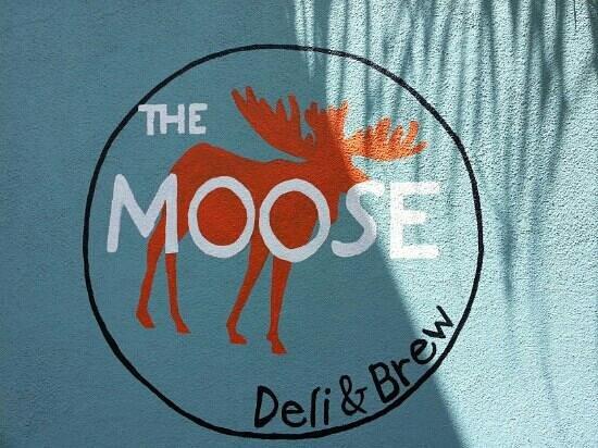 The Moose Deli: logo on side of building