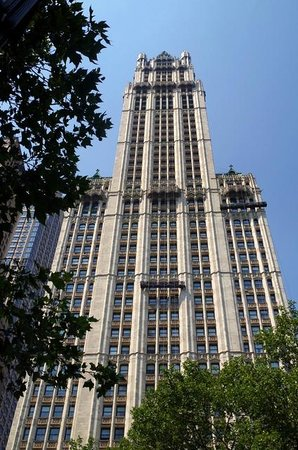Exterior of the woolworth Building