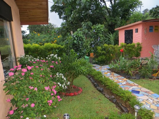 A view of the beautiful grounds at the hacienda