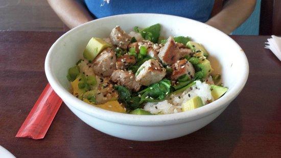 Salt Life Food Shack: Caliche's poke bowl (comes with raw tuna,wife wanted hers seared)