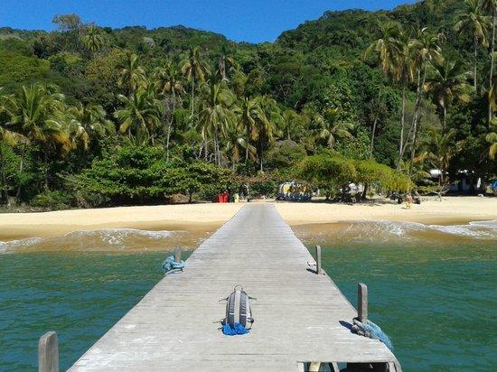 Grande das Palmas Beach: Vista do Cais