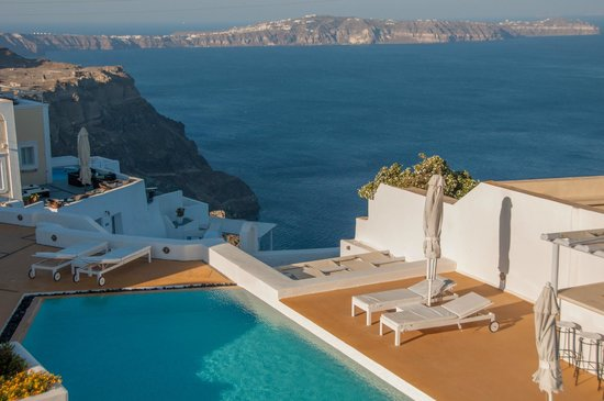 Aria Suites: View from the balcony of Aida