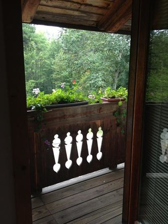 Mont Vernon, Нью-Гэмпшир: our balcony door
