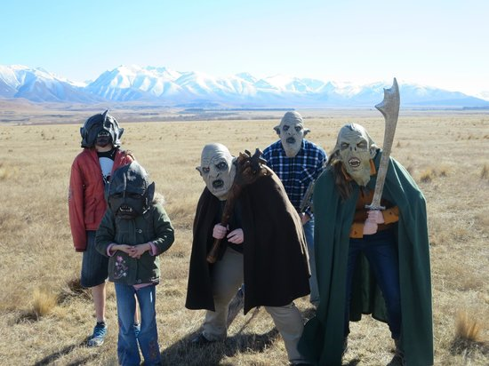 Lord of the Rings Twizel Tour: A pack of orcs moves across the plains