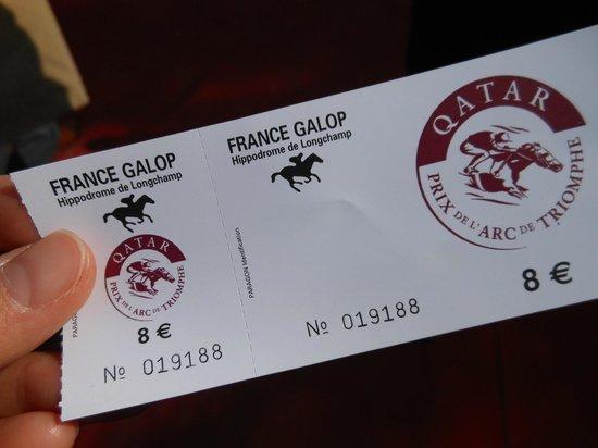 Longchamp Racecourse: 入場チケット 2012年凱旋門賞は8ユーロ