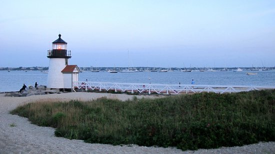 Brant Point Lighthouse: View of the bay