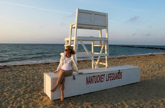 Jetties Beach: Lifeguard was here