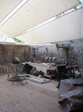 Cosanti Foundation: Bell making work area.
