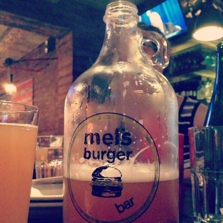 Mel's Burger Bar: a growler of beer