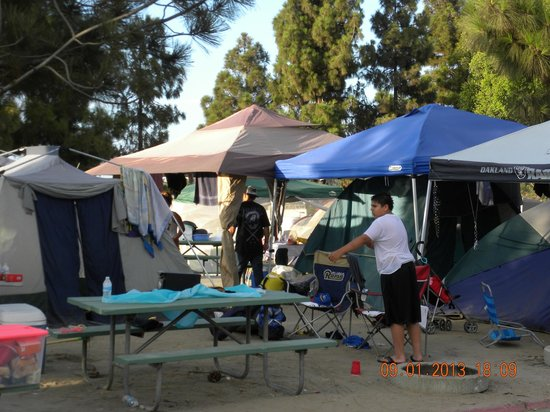 Tents Covered The Area Around The Rv Sites Picture Of