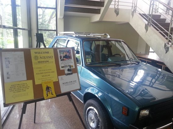 The Aquino Center Museum: Aquino's actual vehicle from Boston usa, 80-83 restored and on display