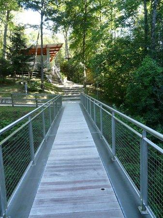 Crapahut Parc Aventure: La passerelle d'accés au site