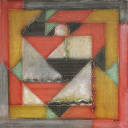 Akkitham Narayanan: Oil on canvas