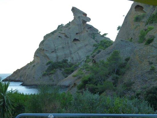 La Calanque de Figuerolles: vue de la terrasse