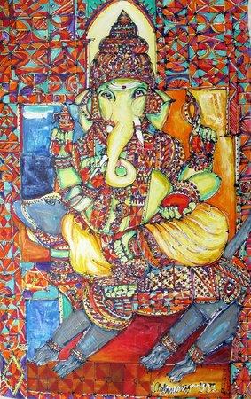 Suriyamoorthy M: Mixed media on canvas