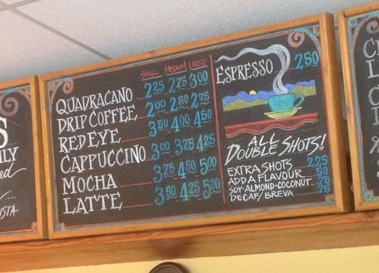 Cafe Aroma: How did they ever come up with these numbers?