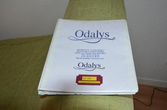 Résidence-Club Odalys L'Ile d'Or : Informationsbuch