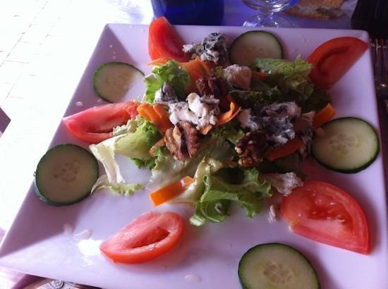 La Calanque: salade roquefort menu 13€