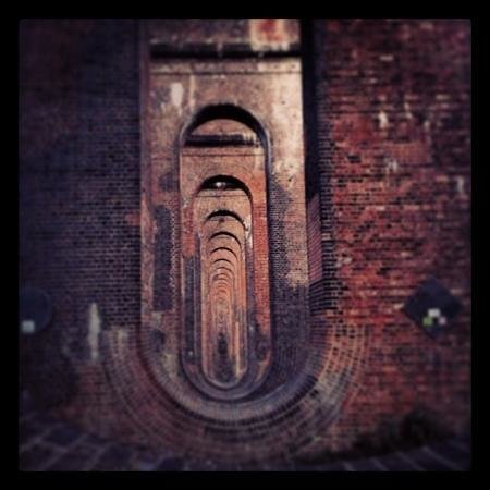 looking through Ouse Valley Viaduct