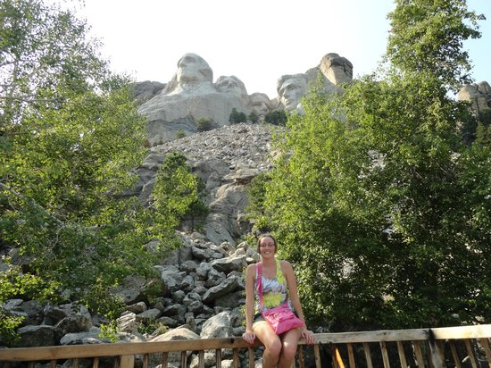 Presidential Trail: At the bottom of Mt Rushmore along the trail