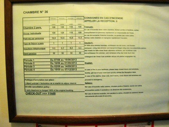 Hôtel Croix-Blanche: tarifs de la chambre 36