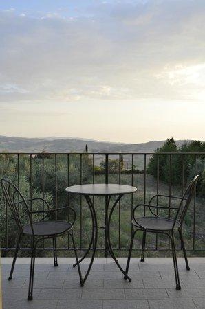 Hotel Corsignano - Pienza: Balcon de notre chambre