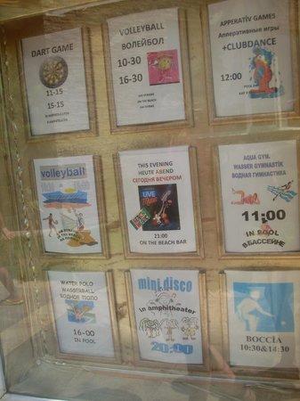 Seher Resort & Spa: Rozpiska atrakcji, codziennie inna