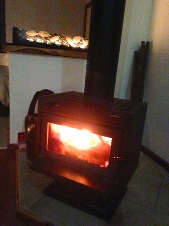 Limpinwood Lodge: Cosy fireplace