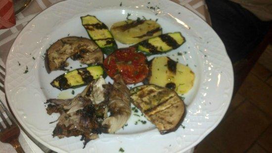 Osteria Venerina : antipasto di verdure grigliate