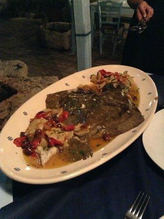 Osteria TerraMasci: Rombo al forno con patate e olive
