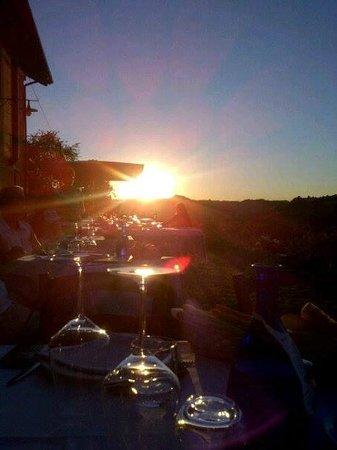 Cascina Vrona: il tramonto