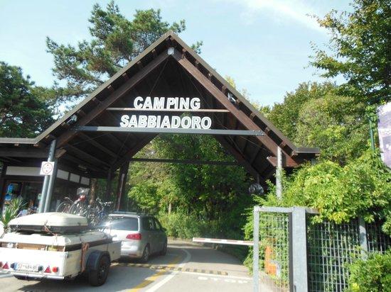 Camping Sabbiadoro: Entrata